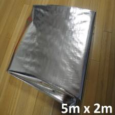 Tecido de Lona Metalizado Refletivo e Branco Impermeável 5m x 2m = 10m²